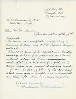 Letter from Frederick S. Challener to A.W. Cameron, October 25, 1927