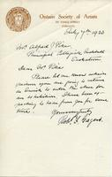 Letter from Robt. F. Gagen to Mr. Alfred Pyke, July 7, 1920