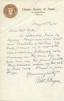 Letter from Robt. F. Gagen to Mr. Pyke, May 23, 1920