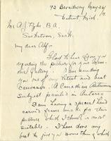Letter from W. Greason to Mr. A.J. Pyke, May 26, 1919