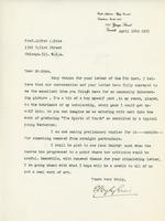 Letter from E. Wyly Grier to Alfred J. Pyke, April 10th, 1923