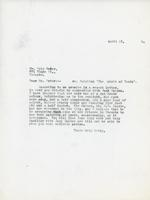 Letter to E. Wyly Grier, April 23