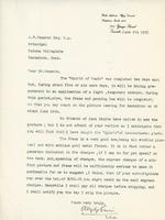 Letter from E. Wyly Grier to A.W. Cameron, June 9th 1923