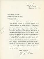 Letter from E. Wyly Grier to A.W. Cameron, Jan. 4. -1924