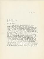 Letter from Principal to Mr. E. Wyly Grier, May 8, 1924