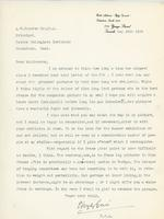 Letter from E. Wyly Grier to A.W. Cameron, May 24th 1924
