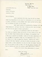 Letter from E. Wyly Grier to A.W. Cameron, Sept. 22nd 1924