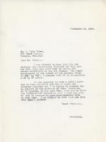 Letter from Principal to Mr. E. Wyly Grier, September 25, 1924