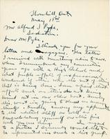 Letter from Fred S. Haines to Mr. Alfred J. Pyke, May 18th