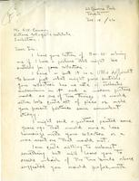Letter from Lawren Harris to Mr. A.W. Cameron, Dec. 14/26