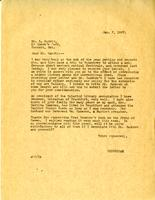 Letter from Principal to Mr. L. Harris, Jan. 7, 1927