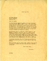 Letter from AWC to Lorne Harris, March 15, 1928