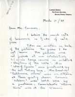 Letter from Lawren Harris to Mr. Cameron, March 31/28