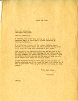 Letter from AWC to Mr. James Henderson, March 19, 1928