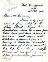Letter from James Henderson to Mr. Cameron, 15th Oct 1926
