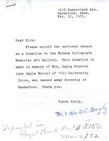 Correspondence between Mr. and Mrs. D.C. Beazely and A. H. Rein, February 1972