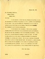 Letter from AWC to Dr. Stapleford, January 28, 1929.
