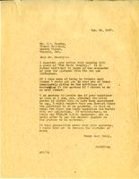 Letter from A.W. Cameron to J.W. Beatty, January 16, 1927