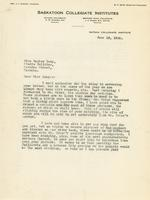 Letter from Principal to Miss Marion Long, June 18, 1924.