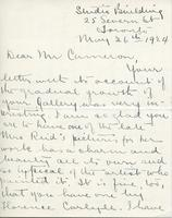 Letter from Marion Long to A.W. Cameron, May 26th 1924