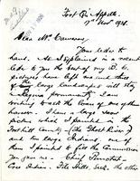 Letter from James Henderson to Mr. Cameron, 17th Nov 1926