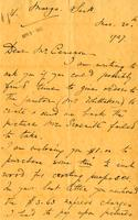 Letter from Sybil Jacobson to Mr. Cameron, Mar. 30th, 1927.
