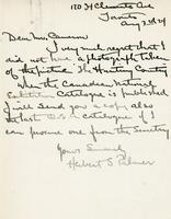 Letter from Herbert S Palmer to Mr. Cameron, Aug 3rd 24