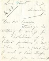 Letter from Sybil Jacobson to Mr. Cameron