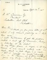 Letter from Sybil Jacobson to A.W. Cameron, Sept 24th, 1925
