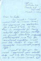 Letter from Mary Alexander to Mr. Listoe, March 15, 1982
