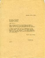 Letter from AWC to F.N. Loveroff
