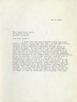 Letter from Principal to Mrs. Laura Muntz Lyall, May 8, 1924.