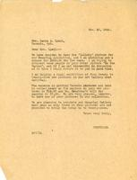 Letter from Principal to Mrs. Laura A. Lyall, Nov. 25, 1926.