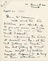 Letter from Laura A. Lyall to Mr. Cameron, Sept 9th 1926