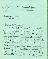 Letter from Laura A. Lyall to Mr. Cameron, December 3rd 1926