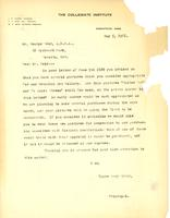 Letter from Principal to Mr. George Reid, May 5, 1921