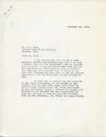 Letter from Principal to Mr. G.A. Reid, November 11, 1924