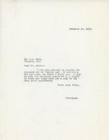 Letter from Principal to Mr. G.A. Reid, November 17, 1924.