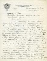Letter from G.A. Reid to Alfred J. Pyke, June 5th 1920
