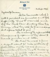 Letter from Emile Walters to Mr. Cameron, Feb 23-1925.