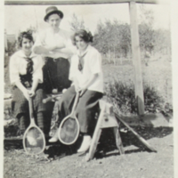 Girls Playing Tennis - 1915-16
