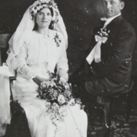 Unidentified Wedding Couple Bekevar.