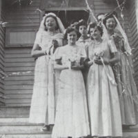Bridesmaids at the Wedding of Ernie Marton and Etel Vigg 1951