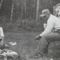 Bacon Roasting 1955