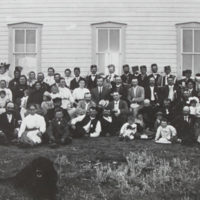 10th Anniversary of the Founding of Bekevar in Front of the Kossuth School 1910