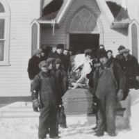A funeral at the Bekevar Church (Connected to F. Fonagy)