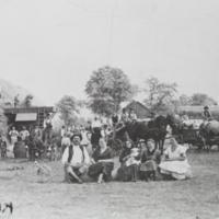 A Threshing Scene in Karcag, August 5, 1930