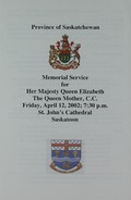 Memorial Service for Her Majesty Queen Elizabeth The Queen Mother, C.C.