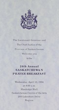 24th Annual Saskatchewan Prayer Breakfast