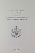 Proceedings On The Occasion Of The Farewell To Her Honour The Honourable Sylvia O. Fedoruk, O.C., S.O.M. Lieutenant Governor